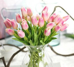 Tulipas de látex Artificial PU flor buquê Real toque flores Para decoração de Casa de Casamento Decorativo Flores Opção