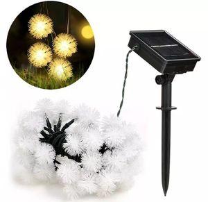 MaoMao Ball Solar String Lampe 19,7 Fuß 30 LED Wassertropfen schmücken Solarenergie im Freien Rasenparty und Urlaub Dekoration LLFA