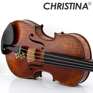Italia Christina EU5000B Violino Maestro 4/4 Made in Europe Acero violino fiammato Violino professionale fatto a mano con custodia per violino