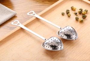 شكل قلب infuser شبكة الكرة الفولاذ مصفاة العشبية قفل infuser ملعقة تصفية أدوات الشاي المصافي