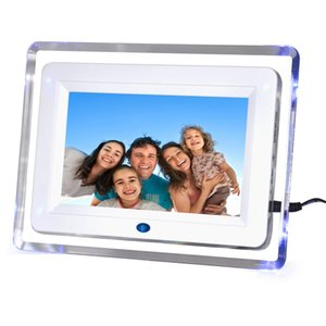 7 inche LED Photo Frame Digital Electronic Digitization фотоальбом 800*480 Digital Signage Player календарь настольная музыка