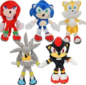 Sonic the Hedgehog dos desenhos animados Plush Toys Sonic & Knuckles the Echidna Tails Shadow the Hedgehog Bichos de pelúcia bonecas EMS C4486 transporte livre