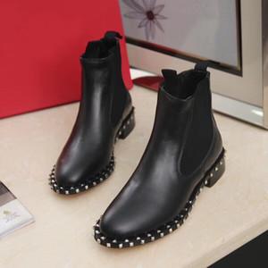 Última marca Diseñador de moda Mujer Martin Botas Superstar botas de tacón grueso Mujeres de lujo Zapatos Mocasines de diseñador Botas de invierno de calidad SUPERIOR W1