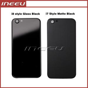 Siyah Arka Kapak Konut iPhone 6 6 s Gibi 7 Alüminyum Metal Arka Pil Kapı Kapağı Değiştirme iPhone 8 stil Mat Siyah