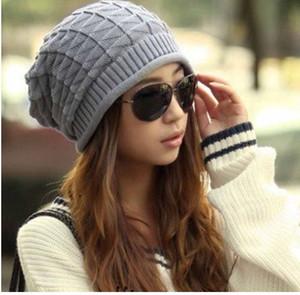 Nueva llegada moda hechos a mano sombreros de tejer femenino invierno cálido crochet Caps Skullies para Lady Women Casual Beanies