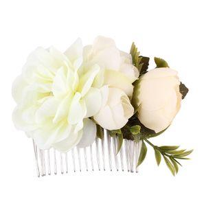 1 Stück Rose Blume Haarkämme Hochzeit Krone Headwear Blooming Blume Stirnband für Braut Mädchen Blume Haarspange Hochzeit Schmuck