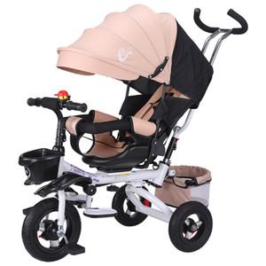 Katlanır çocuk Üç Tekerlekli Bisiklet Uzanmış Bebek Bisiklet Kova Ile 1-3 Bebek Çocuk Barrow Bebek Arabası