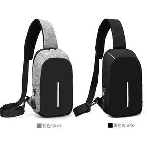 Anti-Theft Unisex Multifunktionale persönliche digitale Umhängetaschen Wasserdicht USB-Ladegerät Port Business Cossbody Reisetasche Mann Geschenk