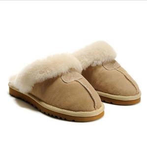 Высокое качество теплый хлопок тапочки мужчины и женщины тапочки короткие сапоги Женские ботинки снега сапоги дизайнер крытый хлопок тапочки кожа boot2