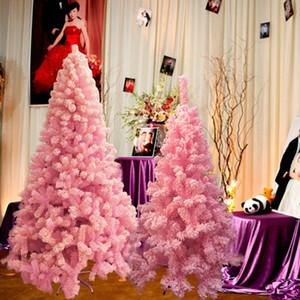 Рождественские елки Праздничной партии Поставки Arbol де NAVIDAD ALBERO Наталя kerstboom 120 / 150/180 / 210см розовой Рождественской елки украшения