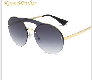 Novos óculos de sol conjuntos, óculos de sol sem armação europeus e americanos, óculos de sol masculinos e femininos.