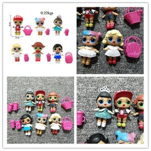 6Pcs / серии LoL куклы 8см с бутылочкой для кормления Basket высокого качества куклы лол Детской игрушечной фигурка игрушка девушка подарок