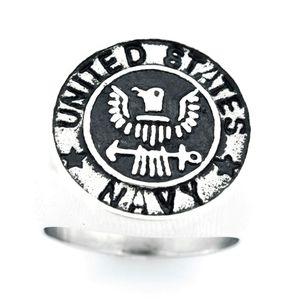 FANSSTEEL нержавеющая сталь старинным мужские или wemens ювелирных изделий UNITED STATES NAVY VETERN ВОЕННОГО RING RING ARMY FSR14W00