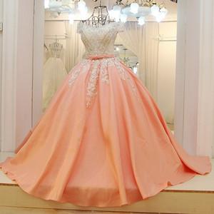 Vestidos de fiesta árabes Vestidos de baile Vestido de fiesta con cuentas de satén Vestido de novia Corsé Volver Vestidos formales de noche elegante 2019 El más nuevo diseño