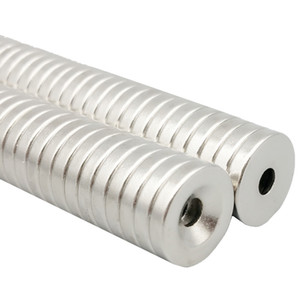 48pcs svasato foro magnete su diametro 15x3mm spesso M4 vite svasata foro neodimio terre rare magnete permanente