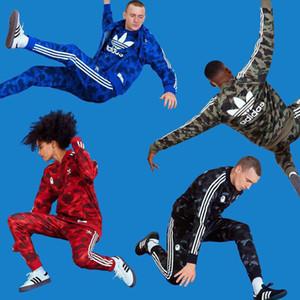 Monkey Head Designer Mens Tute Marca Windbreaker + Pants Sport che fanno funzionare Set High Street Fashion Casual Marca Suits mutanda del cappotto