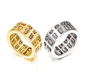 Mode Abacus Ring Für Männer Frauen Hohe Qualität Mathematik Anzahl Schmuck Gold Silber Edelstahl Charme Ringe Geschenke