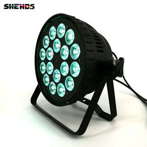 SHEHDS LED Can Par 18x18W RGBWA + UV 6in1 Luci da palco DMX512 Business Light con Professional per Party KTV Disco