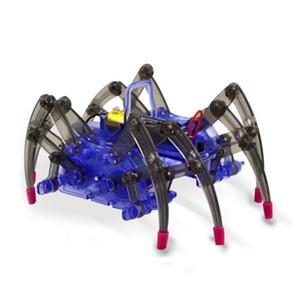 DIY Akıllı Elektrikli Örümcek Robot Oyuncak Birleştirin Eğitim DIY Kiti Sıcak Satış Montaj Yapı Bulmaca Oyuncaklar Yüksek Kalite