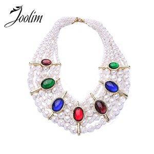 vente en gros bijoux vente en gros / simulé perle multicouche collier de luxe collier de mariage collier de soirée déclaration