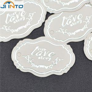 """100 stücke """"liebe sie geschichte"""" Gunst Guest Label Handwerk verpackung Dichtungen Kraft Etiketten Aufkleber Hochzeit Geschenk Tag Party Dekoration"""
