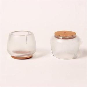 Kreisförmige Silikon-Tischset-transparente Möbel-Bein-Hüllen-Abdeckungs-Verdickung Mini-Stuhl-Beine schützen hohen Grad 0 3sj ii