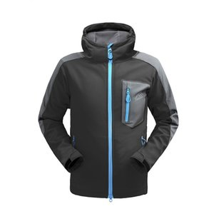 Giacca impermeabile softshell Uomo Escursionismo Fleece Rain Coat Pesca Windbreaker Outdoor Campeggio Trekking Soft shell Jacket