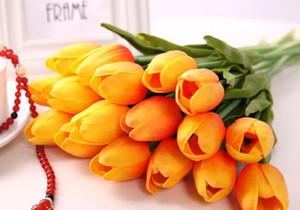 Tulipani di lattice artificiale bouquet di fiori PU Real touch fiori per la decorazione domestica di fiori decorativi da sposa 12 colori opzione