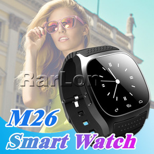 M26 SmartWatch Wirelss Bluetooth Smart İzle Telefon Bilezik Kamera Android için Uzaktan Kumanda Anti-kayıp alarm Barometresi X6 A1 izle
