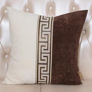Última remiendo de lujo de terciopelo fundas de cojines del sofá cubierta Presidente lumbar de la almohadilla del Ministerio del Interior decorativo de nuevo caso Cojines de gama alta almohada