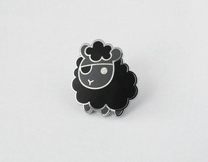 Kundenspezifischer Verchromungs-harter Email-Schaf-Pirat Pin Cute Animal Pin