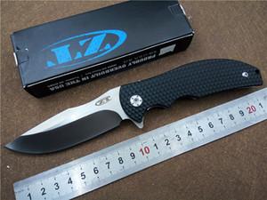 Zero Tolerance ZT0606 Couteau Roulement À Billes Flipper Couteau Pliant 9CR18Mov Lame G10 Poignée En Plein Air Chasse Outils À Main Couteaux
