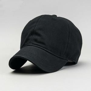 Beckyruiwu 2018 de calidad superior Big Head Man Hat para hombre puro algodón de color sólido Sol Caps Men Plus Size Gorra de béisbol 56-61CM