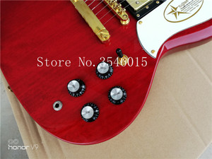 Custom mit Classic Red 3 Pickups sg Gitarre Deluxe 2018completed Musikinstrumente Chinese sg elektrische Gitarre versandkostenfrei