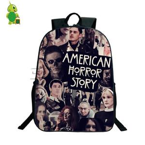 Histoire d'horreur américain Evan Peters Sacs à dos, sacs d'école pour garçons adolescents Filles Sac à dos quotidien Sacs de voyage à bandoulière