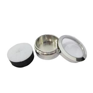 Kostenloser versand Kreis diamant display box qualität edelstahl metall edelstein diamant Fall 3,2 * 1,5 (cm)