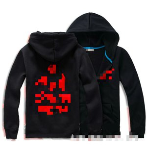 anime character printing clothes sharingan Logo Hoodie Jacket zipper cardigan hooded sweater with cashmere