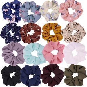 16 Renkler Kadınlar Şifon Çiçek Saç Scrunchies Saç Yay Şifon At Kuyruğu Tutucu Dahil 8 Renkler Çiçek Saç Scrunchies ve 8 katı
