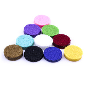 Colorful Round Felt Pads for 3*15mm Essential Oil Diffuser Spacers for Essential Oil Diffuser 18mm Snap Buttons jewelry