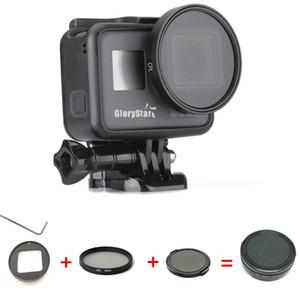 Filtro Polarizador De Alumínio Filtro Polarizador Circular CPL Lens Filter + Lens Cap para GoPro Hero 5 Hero 6 Acessórios de Fotografia