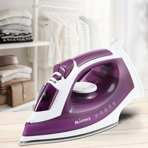 MARSKE Electric Steam Iron Nonstick Soleplate Adjustable Temperature 1600W Powerful Electric Garment Steamer Steam Iron For Clothes TTB
