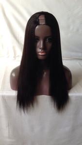 Gorgeousdreamhair Luz Yaki 8-24inch U Parte Wig 1 # / 1b / 2 # / 4 # / color natural U parte Tamaño 1X3 / 2X4 / 4X4inch Pelucas de cabello humano para mujeres negras