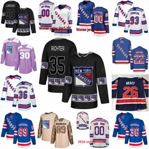 Nouvelle saison New York Rangers Jersey 8 Cody McLeod 26 Jimmy Vesey 17 Jesper Fast 36 Tapis Zuccarello 33 Fredrik Claesson Hockey Jerseys