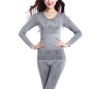 النساء في فصل الشتاء الملابس الداخلية الحرارية السيدات البدلة الملابس الداخلية الحرارية ملابس للسيدات ذكر لونغ جون لT7