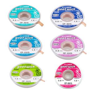 Оригинал Япония GOOT распайки Уикс Сварочные Инструменты для ремонта Всасывающий Tin Wick Длина 1,5 M RoHS пайку Remover для PCB RMA Точность работы