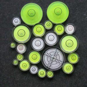 (100 Pieces / Lot) HACCURY 정밀도 버블 레벨 수위 표시기 범용 레벨 라운드 아크릴 바이알 (카메라 용)