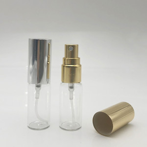 Mini Fine Mist 5ml 5G Atomizer Glass bottles Spray Refillable Fragrance Perfume Empty Scent Bottle for Travel Party Portable Makeup Tool