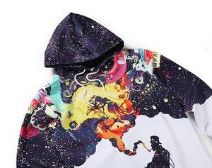 Полиэстер мужская с длинным рукавом осень-зима пуловеры забавный принт курение человек толстовка свободного покроя толстовки с крышкой