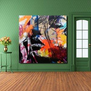 Hochwertiger handgemalter HD-Druck David Bowie Moderne abstrakte Pop-Art-abstrakte Farbporträt-Ölgemälde auf Segeltuch p272