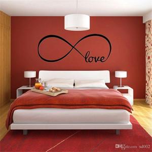 Autocollants muraux autocollants muraux symbole d'amour infini imperméable autocollant pour la maison Décor unique PVC Paster étanche à l'humidité Design 2 9ls ZZ